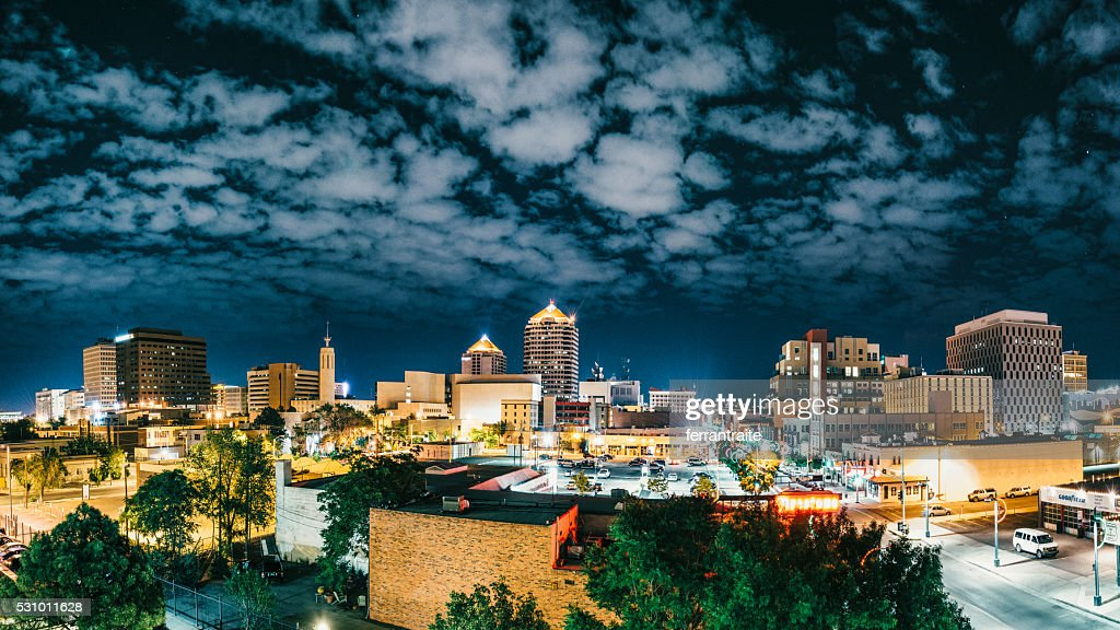 Panorama of Albuquerque Skyline at Night : Stock Photo