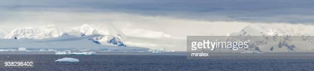 Panorama de paisaje Antártico