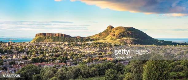 Panorama of Arthur's Seat in Edinburgh, Scotland
