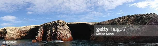 "panorama of ballestas islands in paracas - ""markus daniel"" stock pictures, royalty-free photos & images"