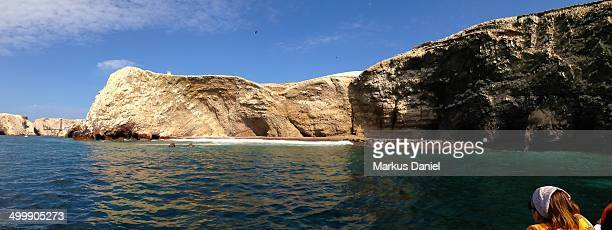 "panorama of ballestas islands paracas - ""markus daniel"" stock pictures, royalty-free photos & images"
