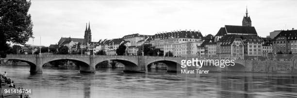 Panorama of Basel with Mittlere Bridge