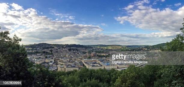 Panorama of Bath in Somerset viewed from near Alexandra Park taken on July 12 2017