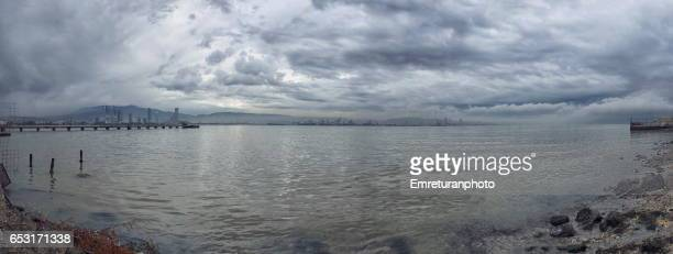 panorama of bayrakli shores in izmir. - emreturanphoto stock pictures, royalty-free photos & images