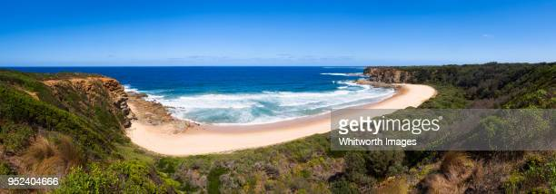 Panorama of beach at The Oaks, near Cape Patterson, Victoria, Australia