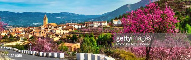 panorama of benifallim village - alicante fotografías e imágenes de stock