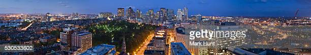 Panorama of Boston as viewed from Boylston Street, Boston, Massachusetts, USA