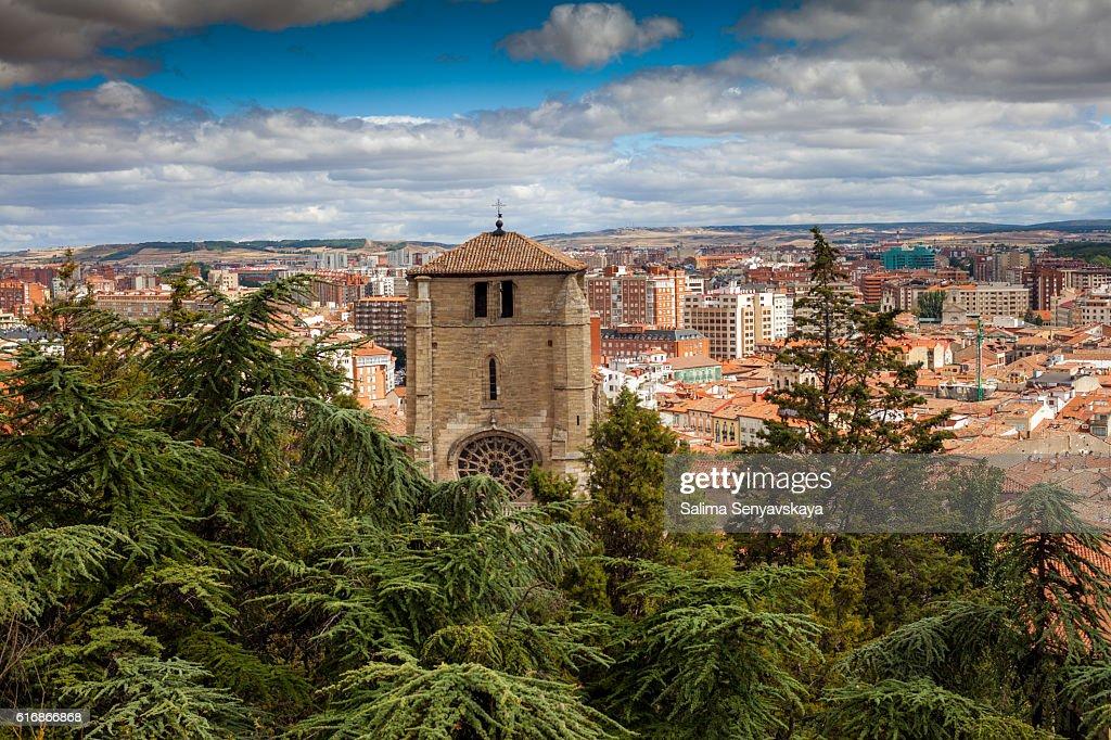 Panorama of Burgos, Spain : Stock Photo