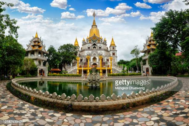 panorama of buu long pagoda in ho chi minh city. a beautiful buddhist temple hidden away in ho chi minh city at vietnam - ho chi minh city stock pictures, royalty-free photos & images