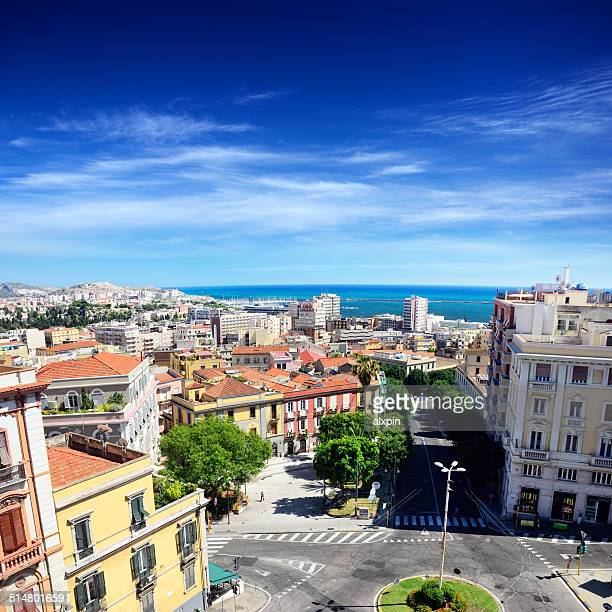 panorama of cagliari - cagliari stock pictures, royalty-free photos & images