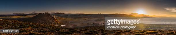 Panorama of Chiu Gompa monastery & mt. Kailash