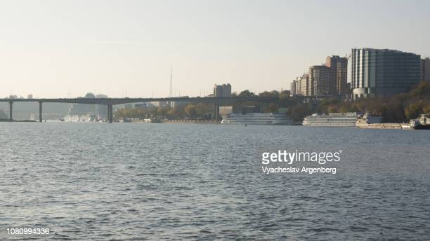 panorama of city of rostov-on-don and don river, russia - argenberg stock pictures, royalty-free photos & images