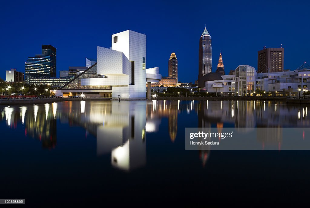 Panorama of Cleveland : Stock Photo