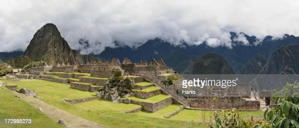 Panorama of cloudy day in Macchu Picchu