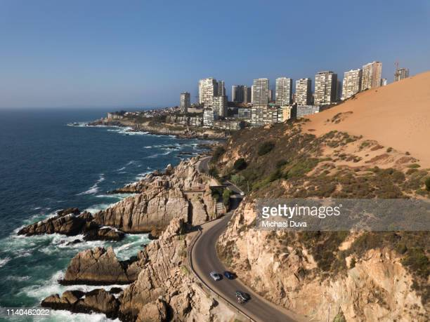 panorama of concon buildings - baía - fotografias e filmes do acervo