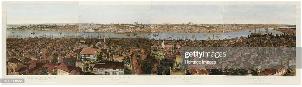 Panorama of Constantinople. Artist: Barker, Henry Aston (1774-1856) : News Photo