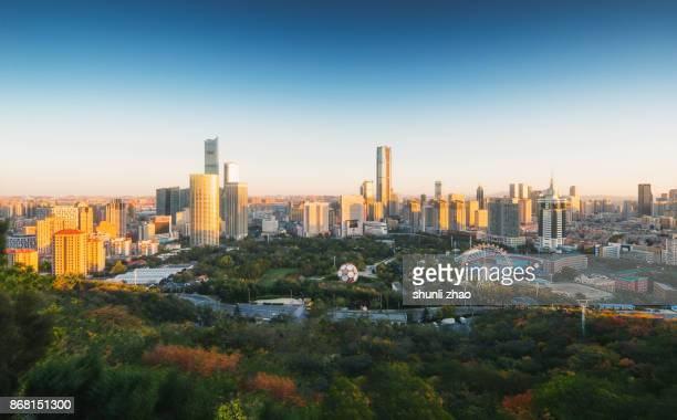 panorama of dalian - liaoning province stock pictures, royalty-free photos & images