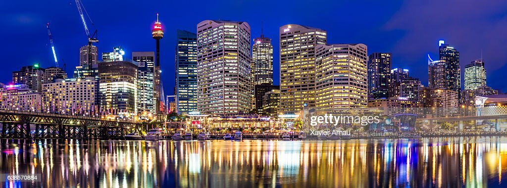 Panorama of Darling Harbour in Sydney : Stock Photo