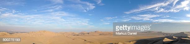 Panorama of Desert Dunes