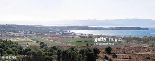 panorama of diamond beach ar cesme - emreturanphoto stock pictures, royalty-free photos & images