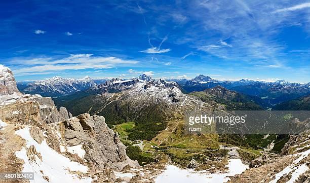 Panorama of Dolomites Alps near Cortina d'Ampezzo, Italy