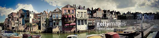 panorama of dordrecht, holland - dordrecht stock pictures, royalty-free photos & images