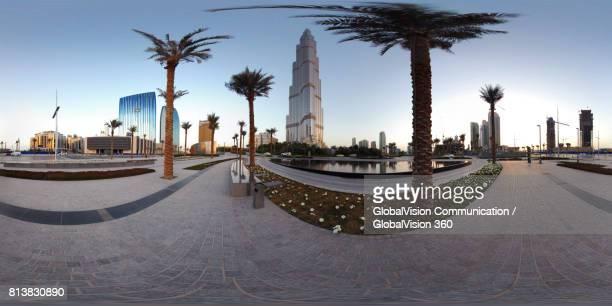 360° Panorama of Dubai Downtown, UAE