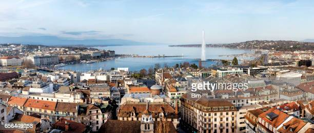 Panorama of Geneva, Lake Geneva, Switzerland