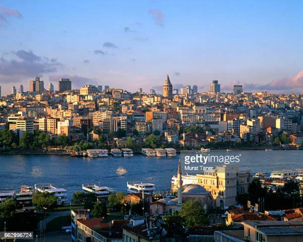 Panorama of Golden Horn and Galata District
