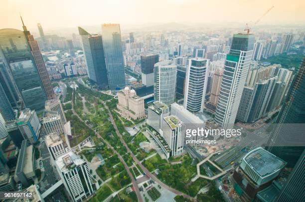 panorama von guangzhou in tagsüber, zhujiang new town china. - guangzhou stock-fotos und bilder