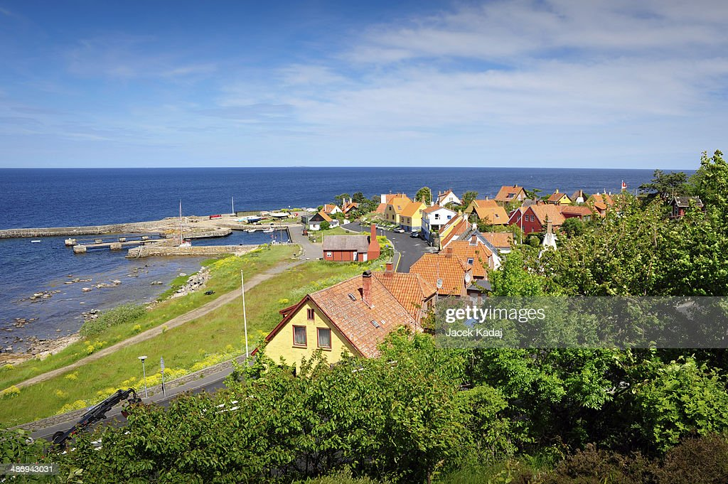 Panorama of Gudhjem : Stock Photo