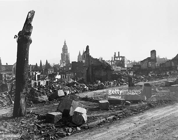 Panorama of Heilbronn Germany It was one of the three or four most devastated cities in Europe April 1945