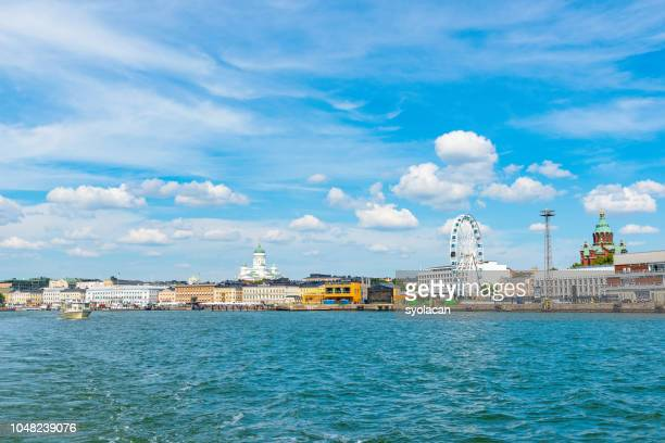 panorama of helsinki from sea - syolacan stock pictures, royalty-free photos & images