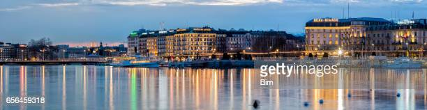 Panorama of Historic Old City Center, Geneva, Switzerland