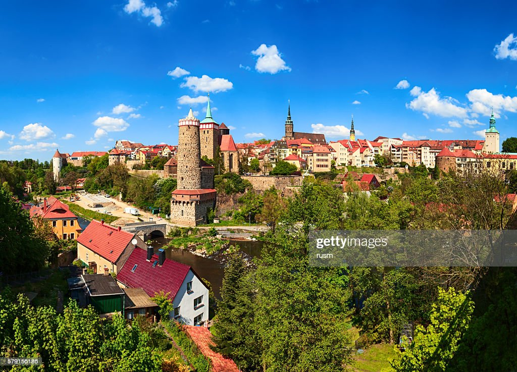 Panorama of historic old town Bautzen, Saxony, Germany. : Stock Photo