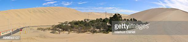 "panorama of huacachina oasis near ica, peru - ""markus daniel"" stock pictures, royalty-free photos & images"