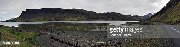 Panorama of Hvalfjordur in Iceland