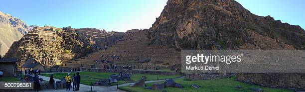 Panorama of Inca City in Ollantaytambo, Peru