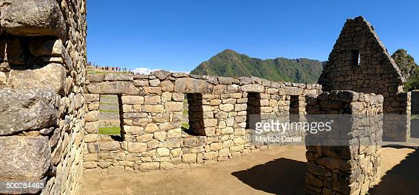 "panorama of inca house in machu picchu, peru - ""markus daniel"" stock pictures, royalty-free photos & images"