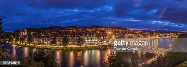 Panorama of Inverness at night