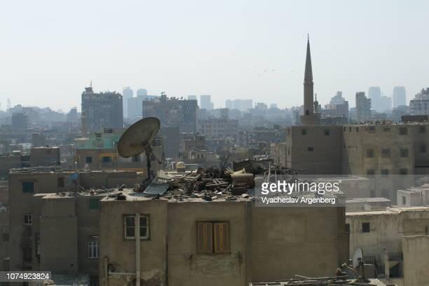 panorama of islamic cairo, egypt - argenberg stock-fotos und bilder