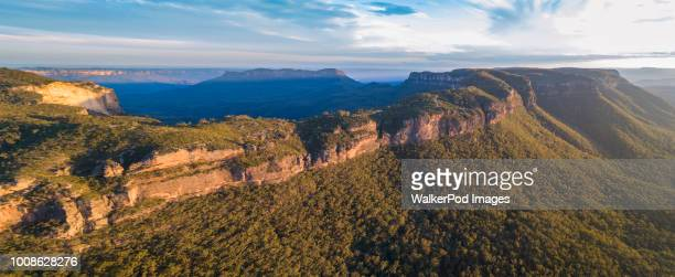 Panorama of Jamison Valley in Blue Mountains National Park