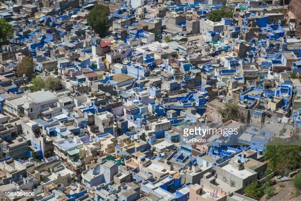 Panorama of Jodhpur in Rajasthan region in India Jodphur is known as the quotBlue Cityquot due to the vivid bluepainted Brahmin houses there is also...