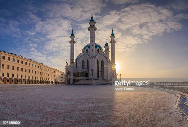 panorama of kazan kremlin, tatarstan republic, russia - kul sharif mosque stock pictures, royalty-free photos & images