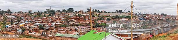Panorama of Kibera, the largest slum in Nairobi