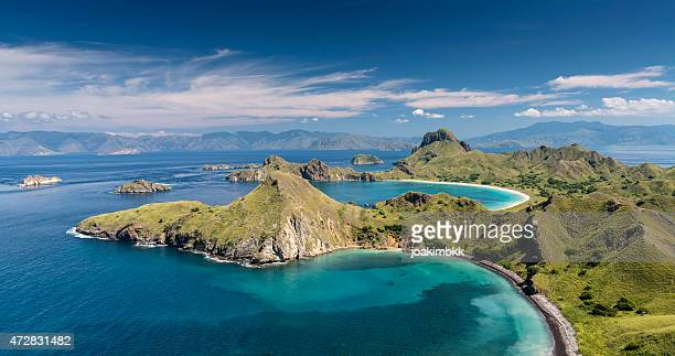 Panorama of Komodo National Park in Flores island