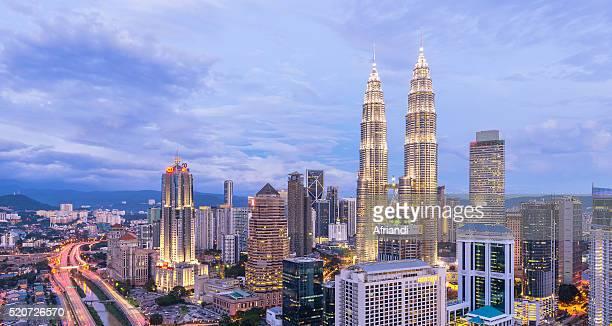Panorama of Kuala Lumpur skyline, Malaysia