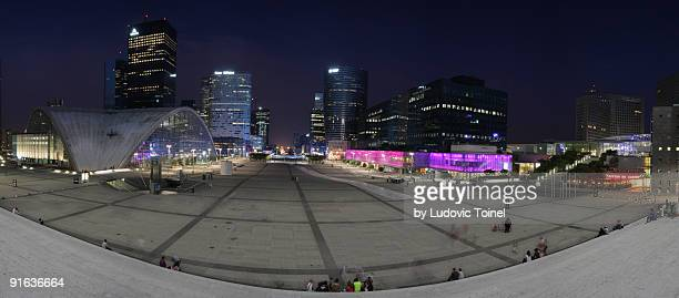 panorama of la defense - ludovic toinel stock pictures, royalty-free photos & images