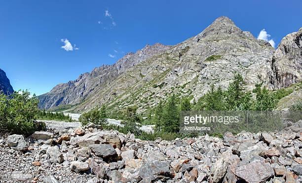 panorama der Landschaft der Alpen