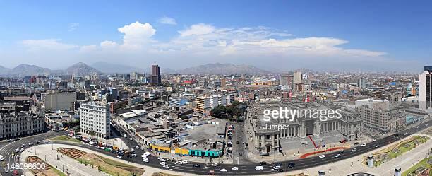 panorama of lima, peru - lima stock-fotos und bilder